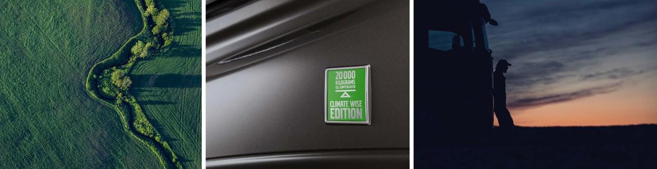 Nákladní vozidla řady Climate Wise Edition produkují méně emisí CO2.