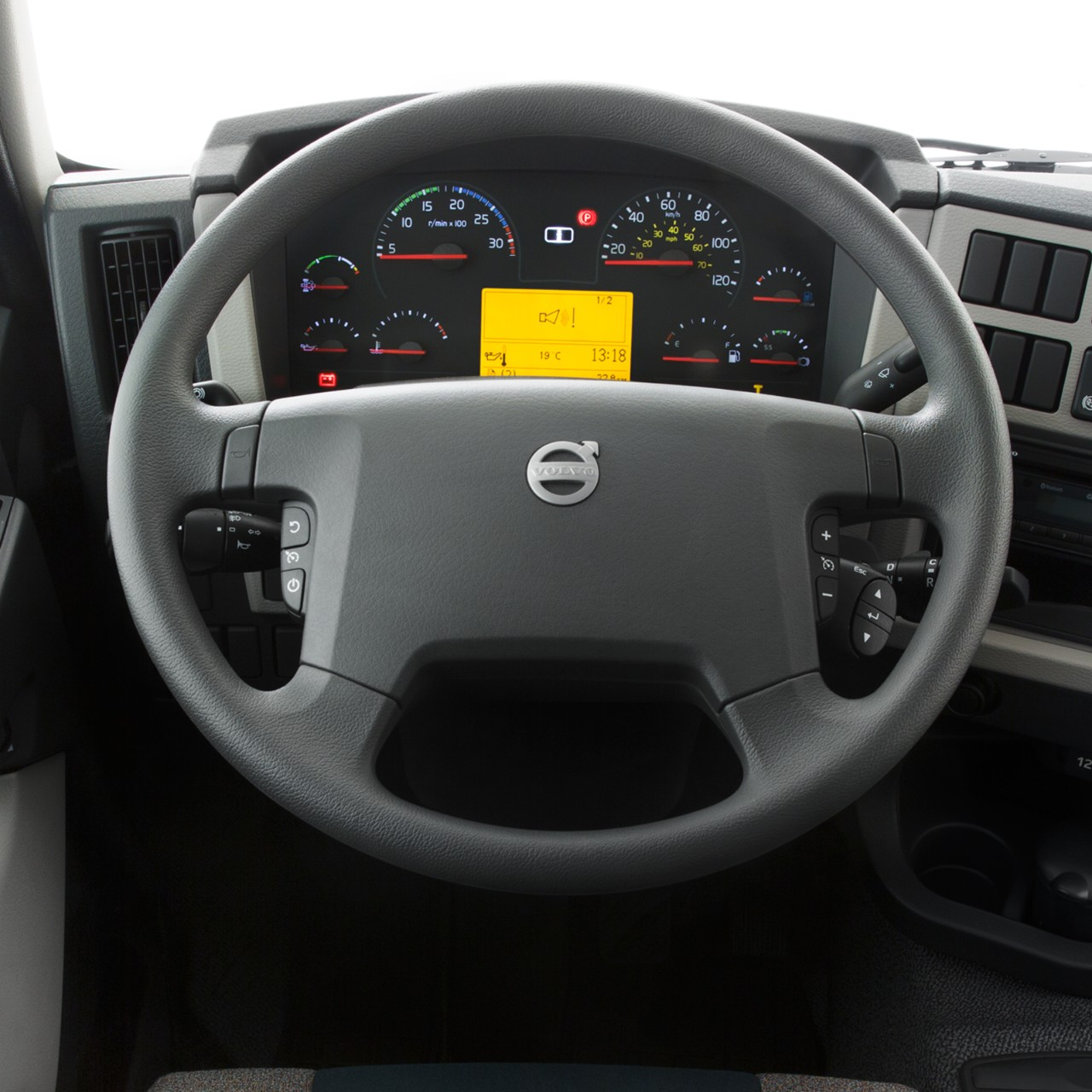 Volvo FE interior steering wheel