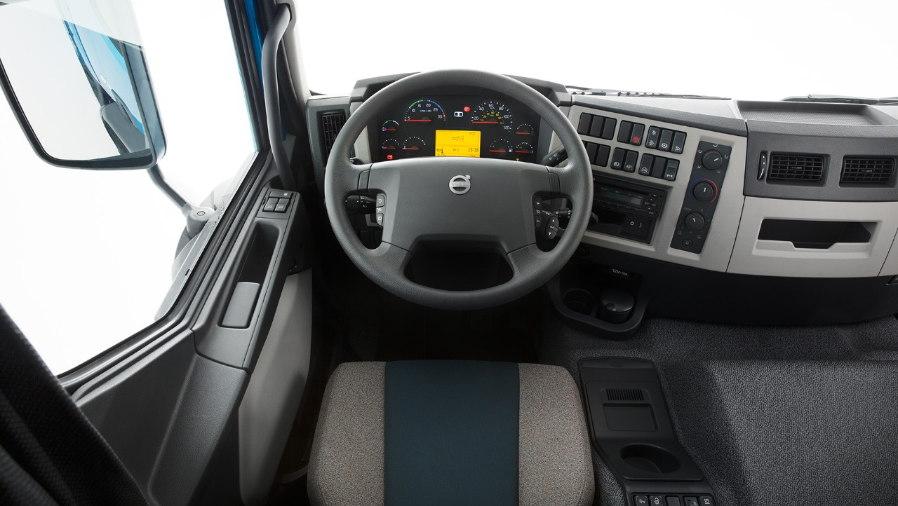 Volvo FE interior cabin overview studio